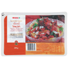 SPAR BACON DICED 200G
